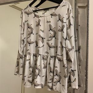 Alice & You Bird Print Blouse
